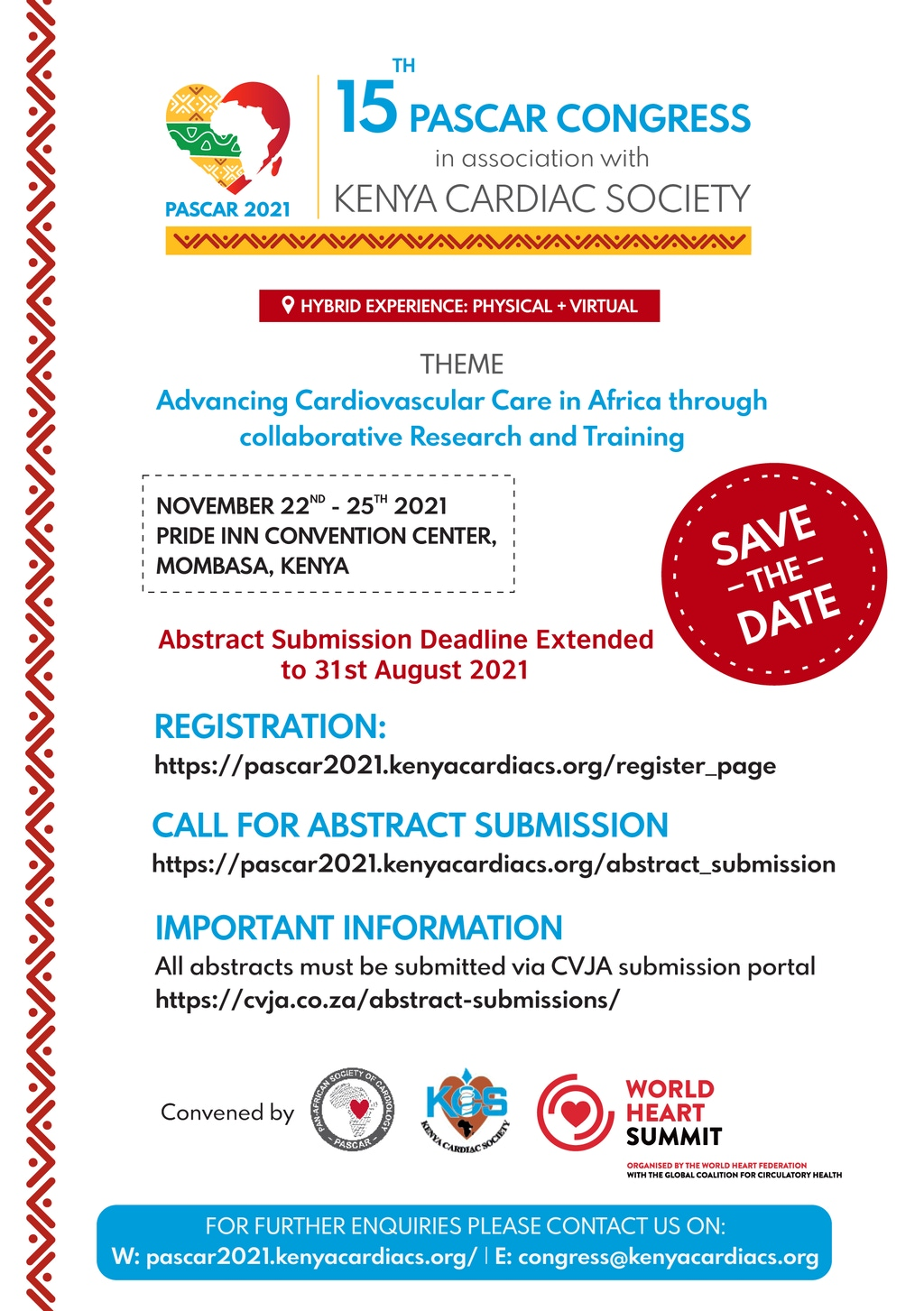 Save The Date Flyer Deadline Extension